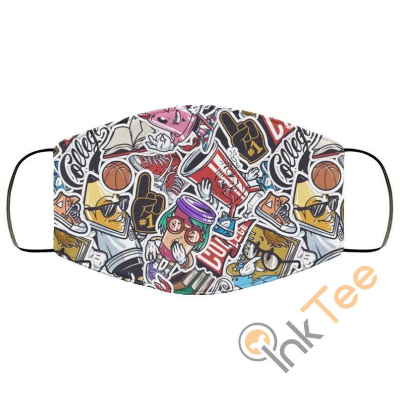 Funky Retro Reusable Washable Face Mask