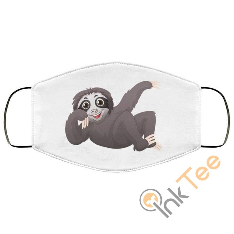 Funny Sloth Chilling Out Reusable Washable Face Mask