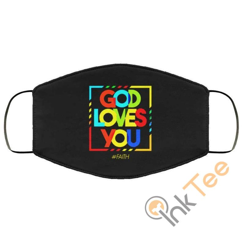 God Loves Your Gay Pride Reusable Washable Face Mask