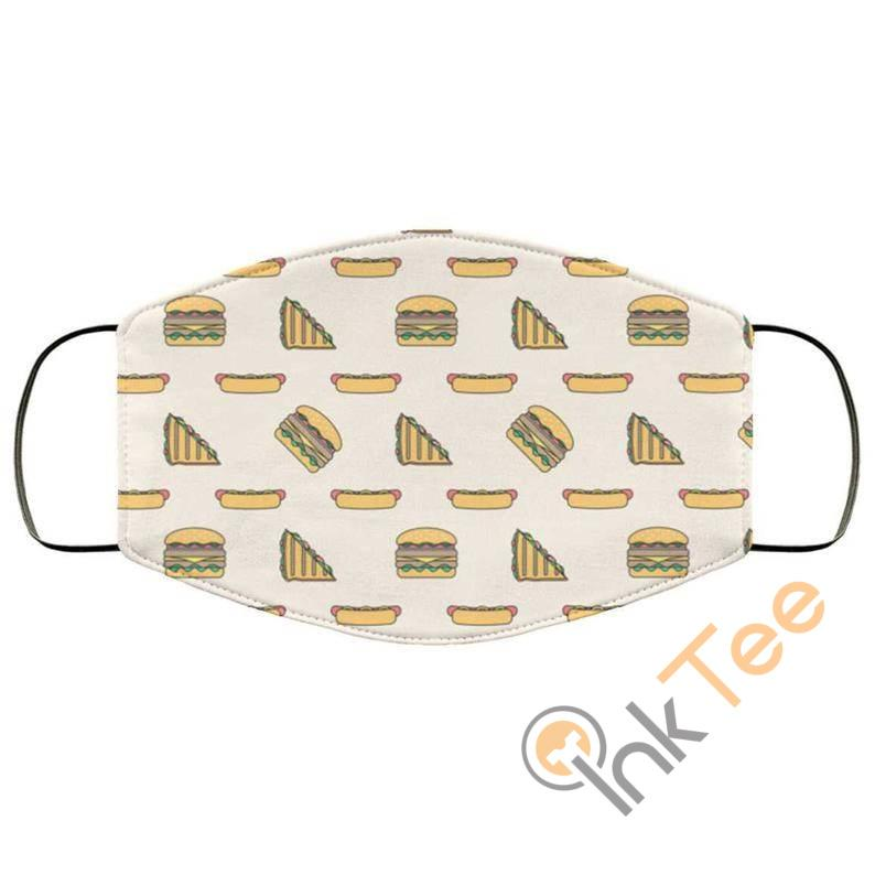 Hamburger Hot Dogs Takeaway Food Reusable Washable Face Mask