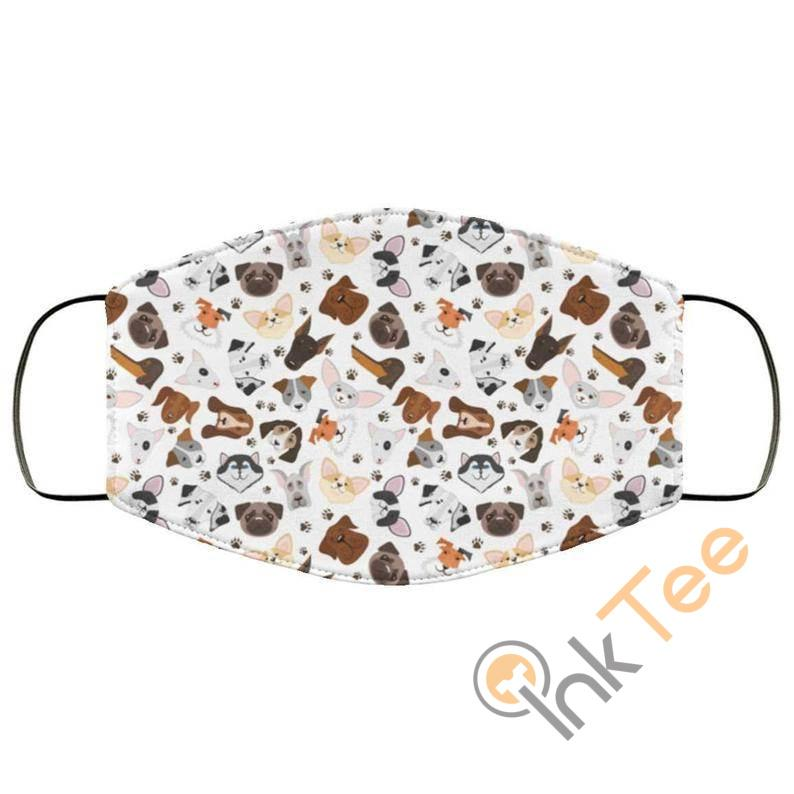 Lots Of Cute Dogs Puppies Reusable Washable Face Mask