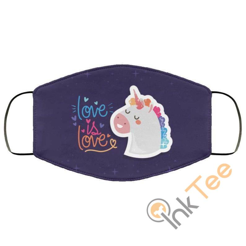Love Is Unicorn Optical Grade Reusable And Washable Face Mask