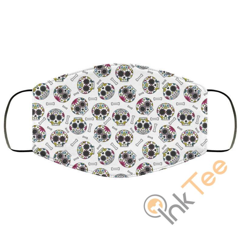 Mexican Candy Skulls Reusable And Washable Face Mask