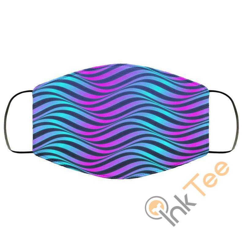 Neon Waves Reusable Washable Face Mask