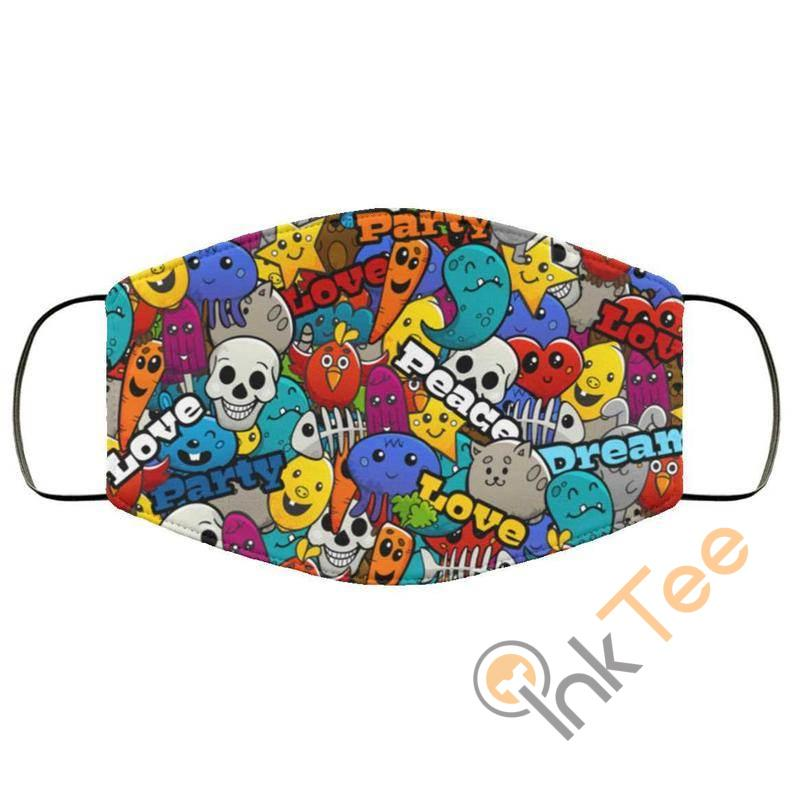 Peace And Love Reusable Washable Face Mask