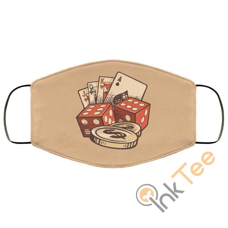 Poker Cards Dice Chips Reusable Face Mask