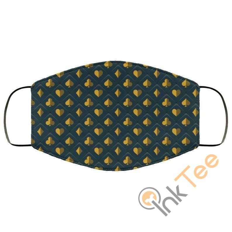 Poker Spades And Clubs Reusable Face Mask