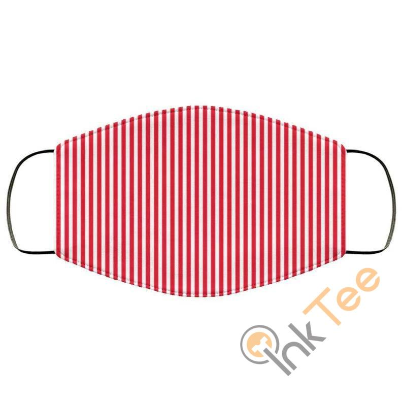 Red Striped Reusable Washable Face Mask