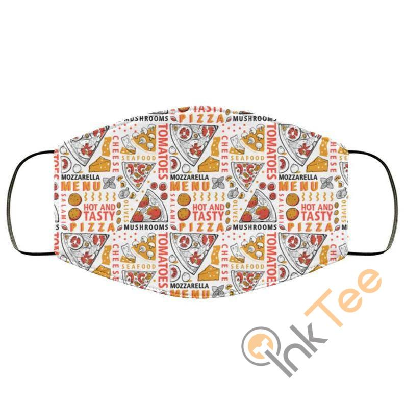 Retro Pizza Reusable And Washable Face Mask