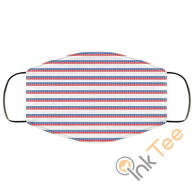 Stars Red Blue Stripes Patternelastic Reusable And Washable Face Mask