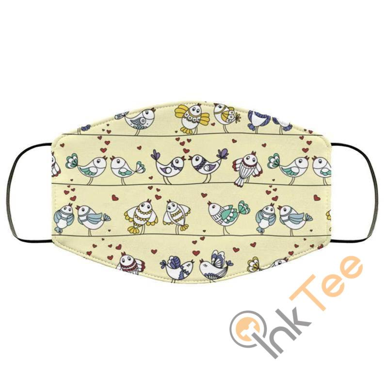 Sweet Love Birds Reusable Washable Face Mask