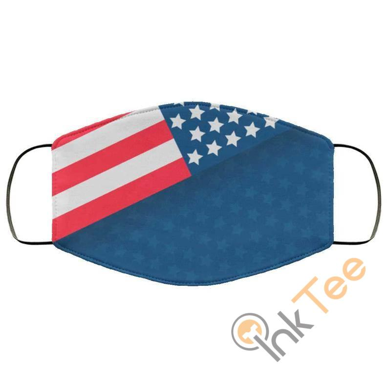 Usa Flag Patriotelastic Reusable And Washable Face Mask