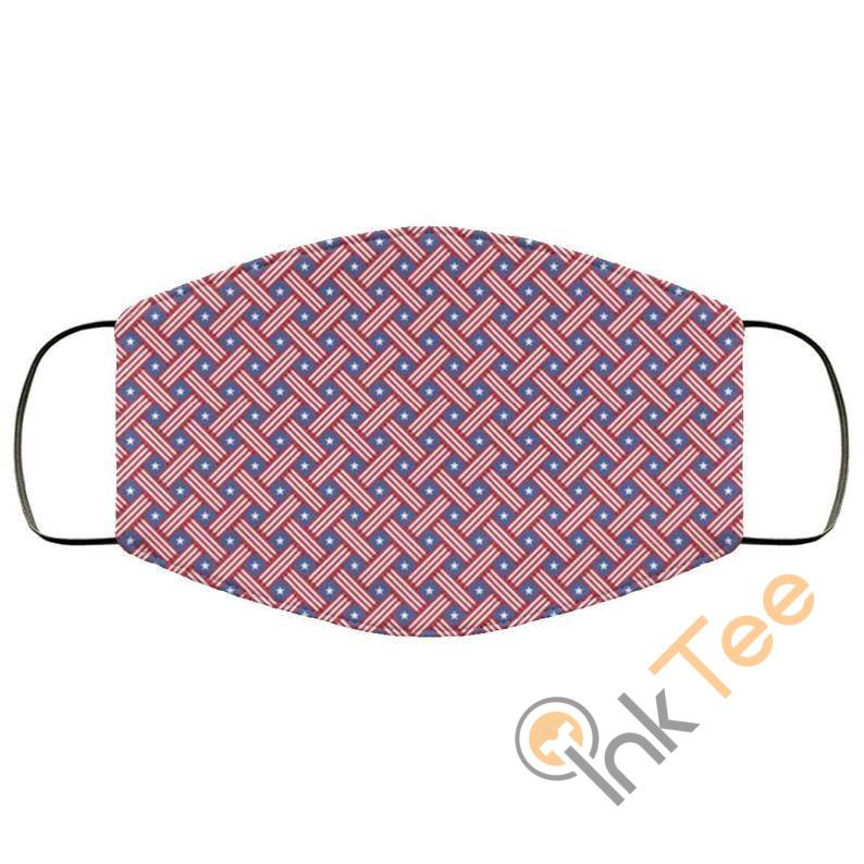 Usa Stars Stripes 4th July Patternelastic Reusable And Washable Face Mask