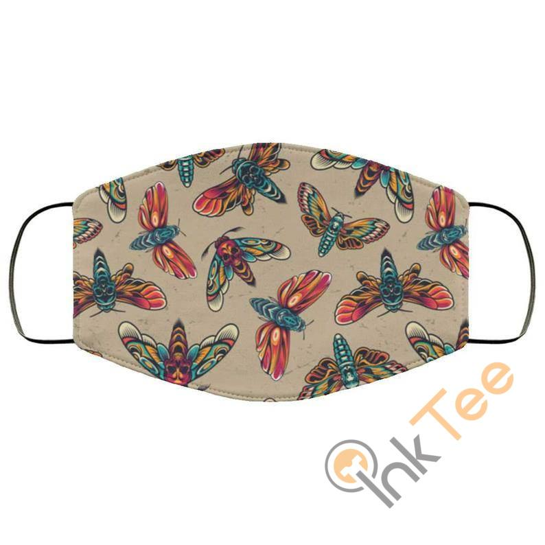 Vinatge Tattoo Butterfly Optical Grade Reusable And Washable Face Mask