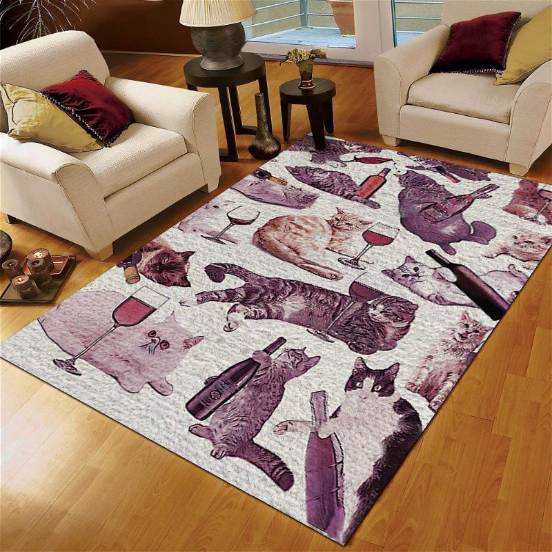 Cat And Wine Amazing Limited Edition Amazon Best Seller Sku 267156 Rug