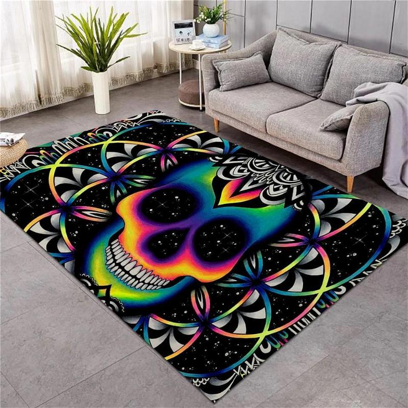 Chaos Colorful Skull Patterns Limited Edition Amazon Best Seller Sku 267175 Rug