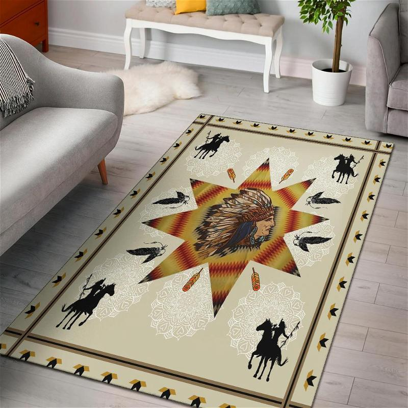 Chief & Warriors Native American Area Limited Edition Amazon Best Seller Sku 267113 Rug