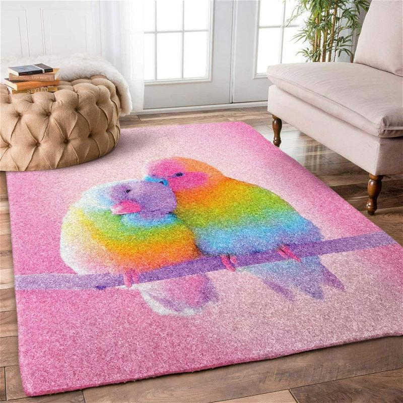 Couple Parrot Limited Edition Amazon Best Seller Sku 267127 Rug