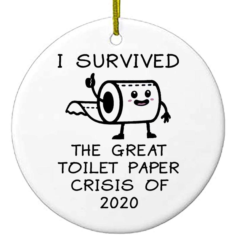 2020 Christmas Ornaments I Survived The Great Toilet Paper Crisis Personalized Gifts