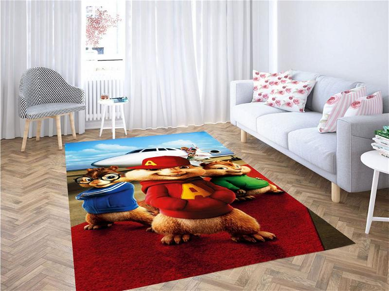 Alvin And The Chipmunks The Squeakquel Carpet Rug
