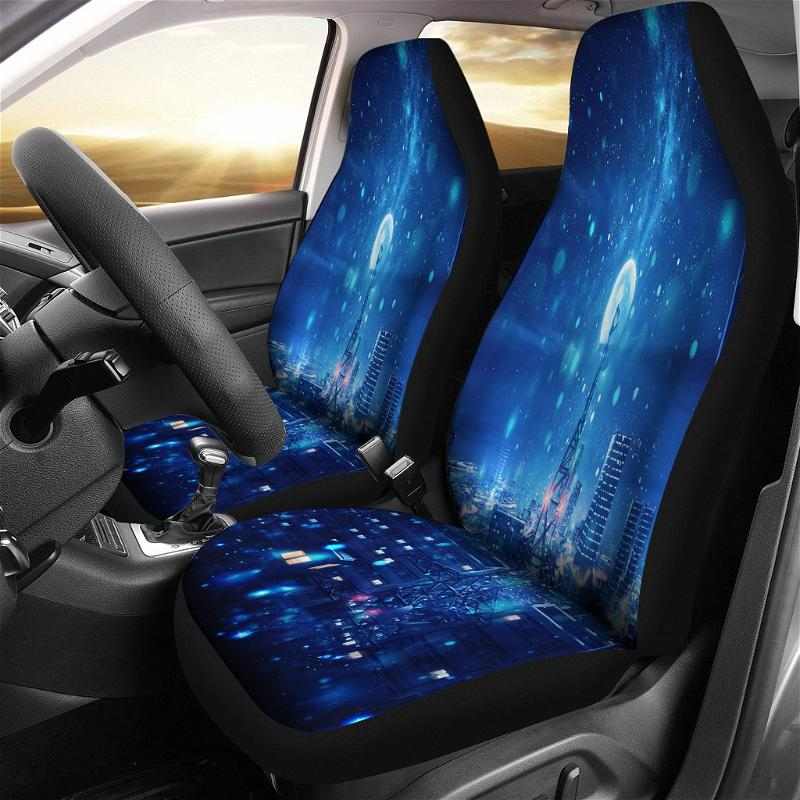 Anime Night Landscape 1 Car Seat Covers