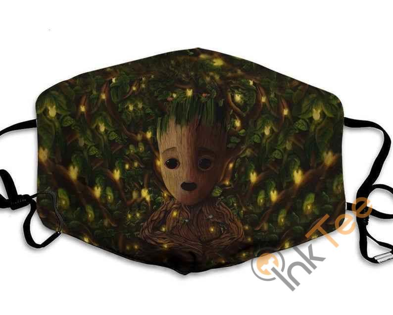 Baby Groot Lover Handmade Anti Droplet Filter Cotton Face Mask
