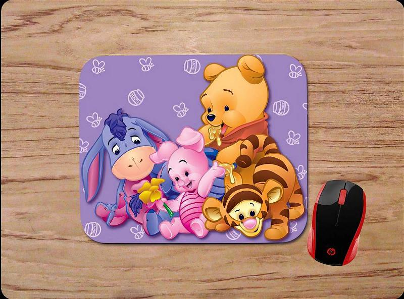 Baby Pooh And Friends Piglet Tigger Eeyore Purple Mouse Pads
