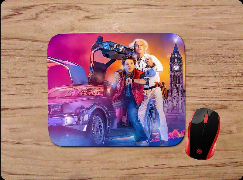 Back To The Future Marty And Doc Mouse Pads