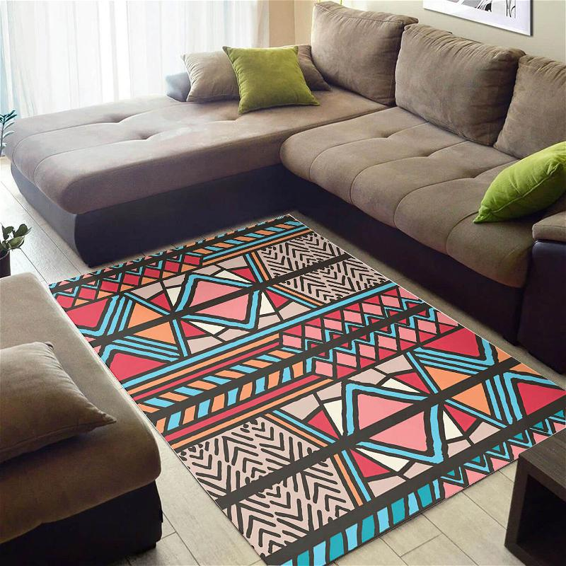 Beautiful African Cool American Black Art Seamless Pattern Style Themed Home Rug