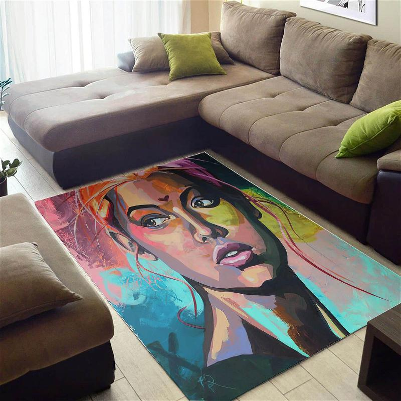 Beautiful African Cute Style Lady Large Inspired Home Rug