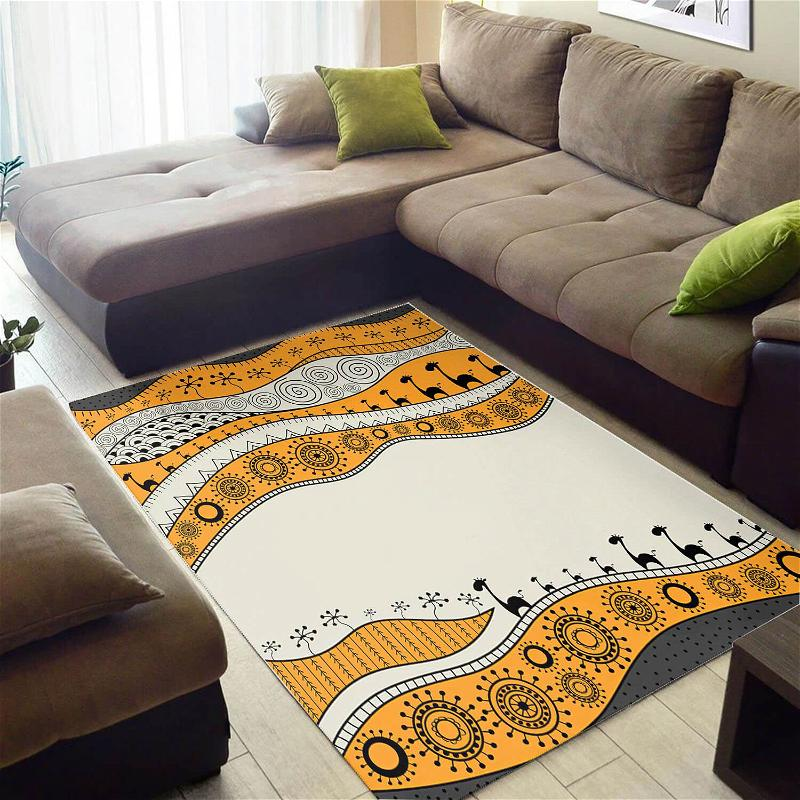 Beautiful African Cute Themed Ethnic Seamless Pattern Style Floor Living Room Rug