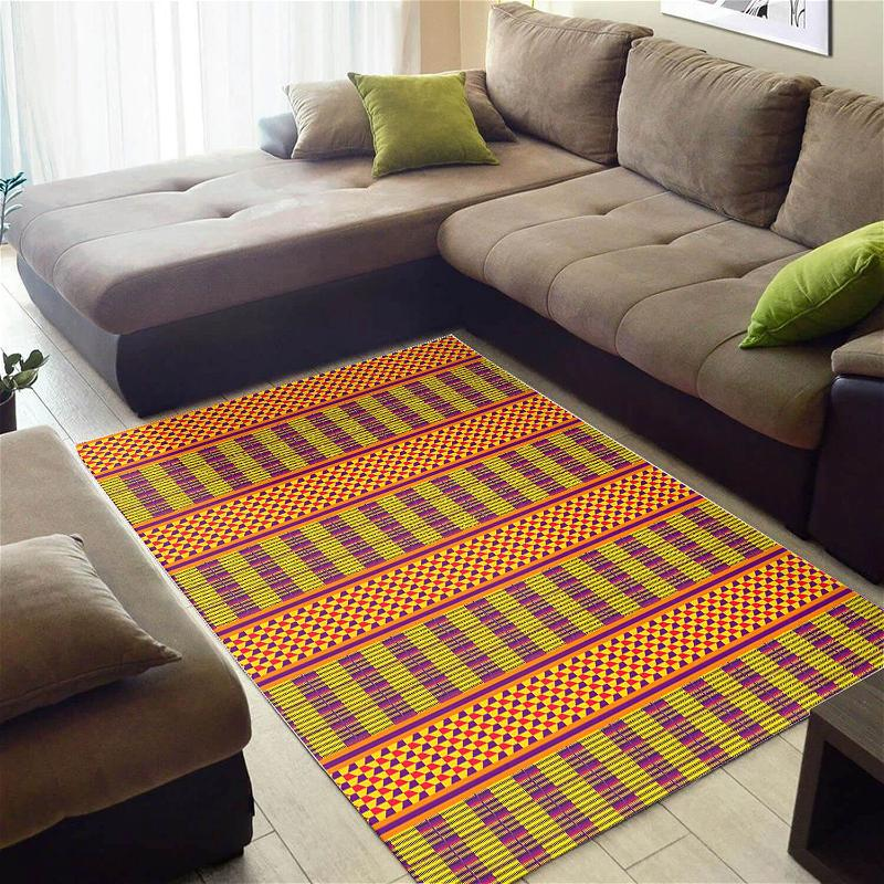 Beautiful African Unique Black History Month Seamless Pattern Themed Carpet Inspired Home Rug