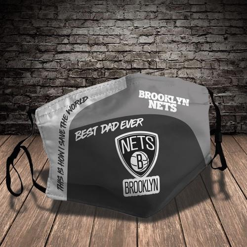 Brooklyn Nets Sport Reusable Washable No1389 Face Mask