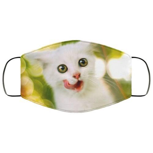 Cat Beautiful And Lovely Animals Washable No1492 Face Mask
