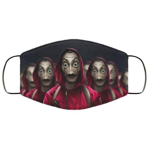 Characters From Money Heist Washable No1497 Face Mask