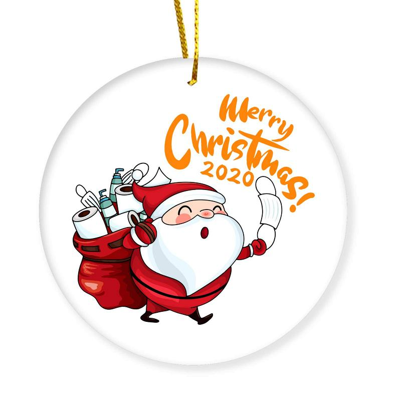 Christmas Ornament Merry Christmas Masked Santa Claus Toilet Paper 2020 Personalized Gifts