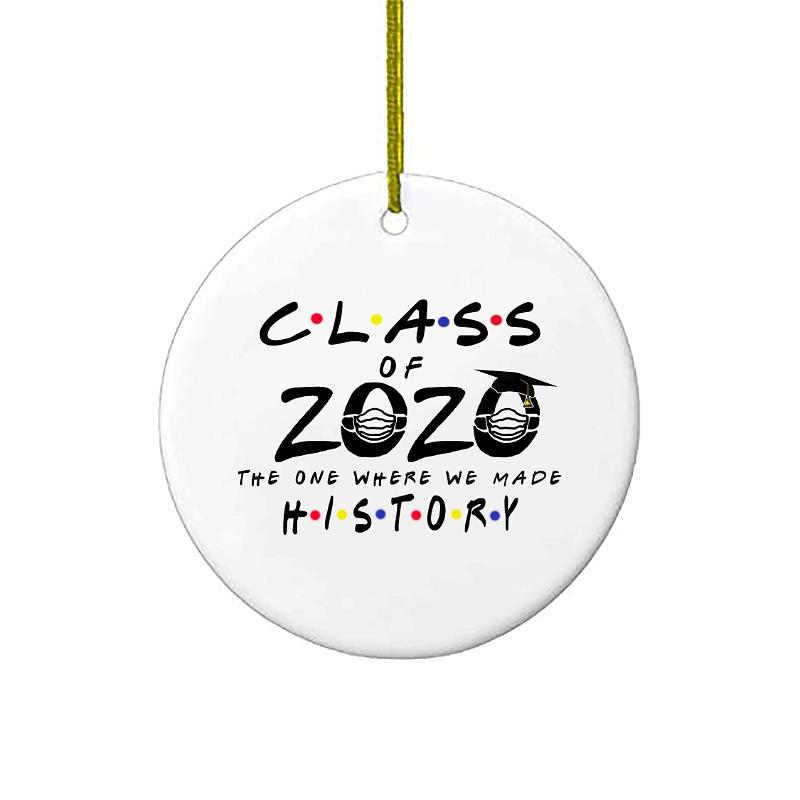 Christmas Ornaments Graduation Quarantine Gift Class Of 2020 Friends The One Where We Made History Personalized Gifts