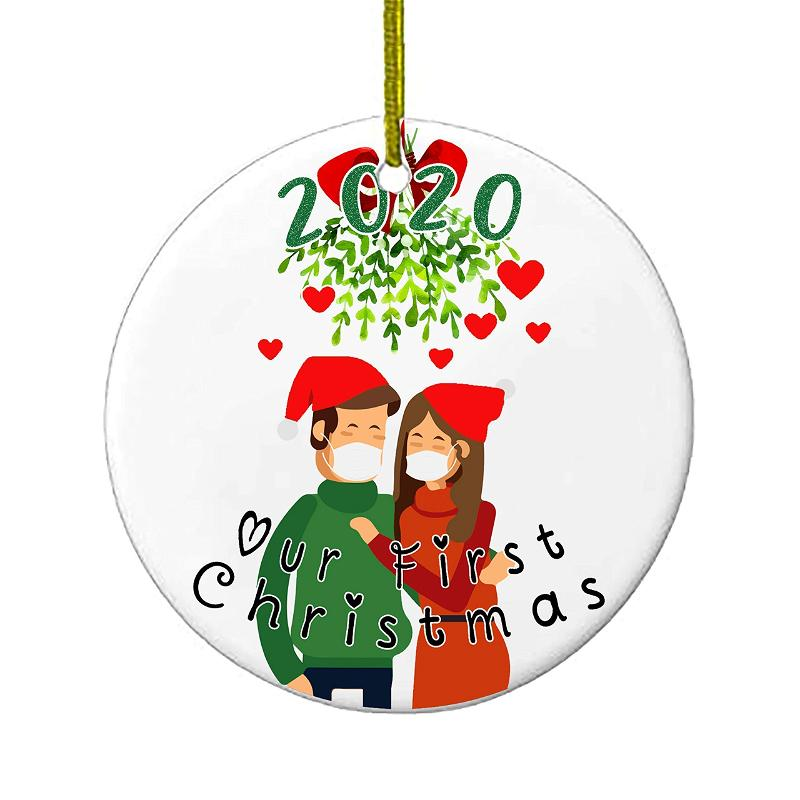 Christmas Ornaments Our First Christmas 2020 Funny Quarantine Gift 1st Holiday Xmas Tree Ornament For Newly Weds Wedding Couple Gifts Personalized Gifts