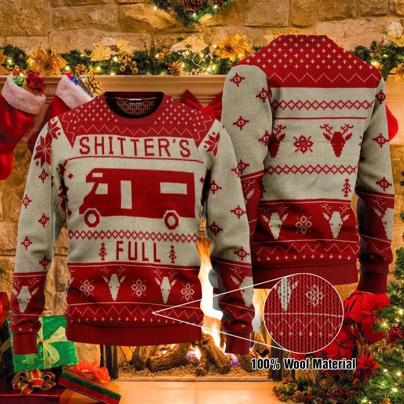Christmas Vacation Shitter's Full Movie ' 100% Wool Ugly Sweater