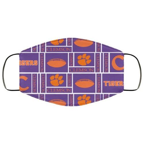 Clemson Tiger Fabric Washable Adults Us No1644 Face Mask