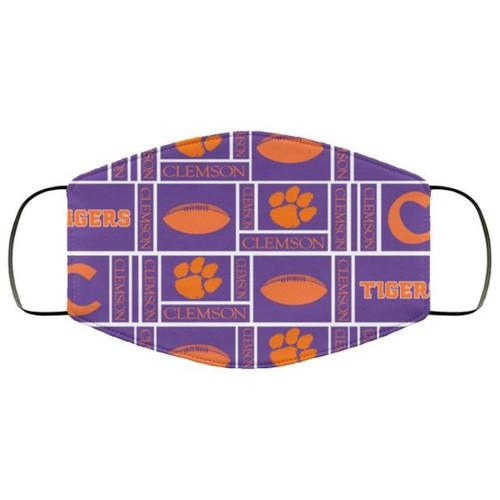 Clemson Tiger Fabric Washable Us No1645 Face Mask