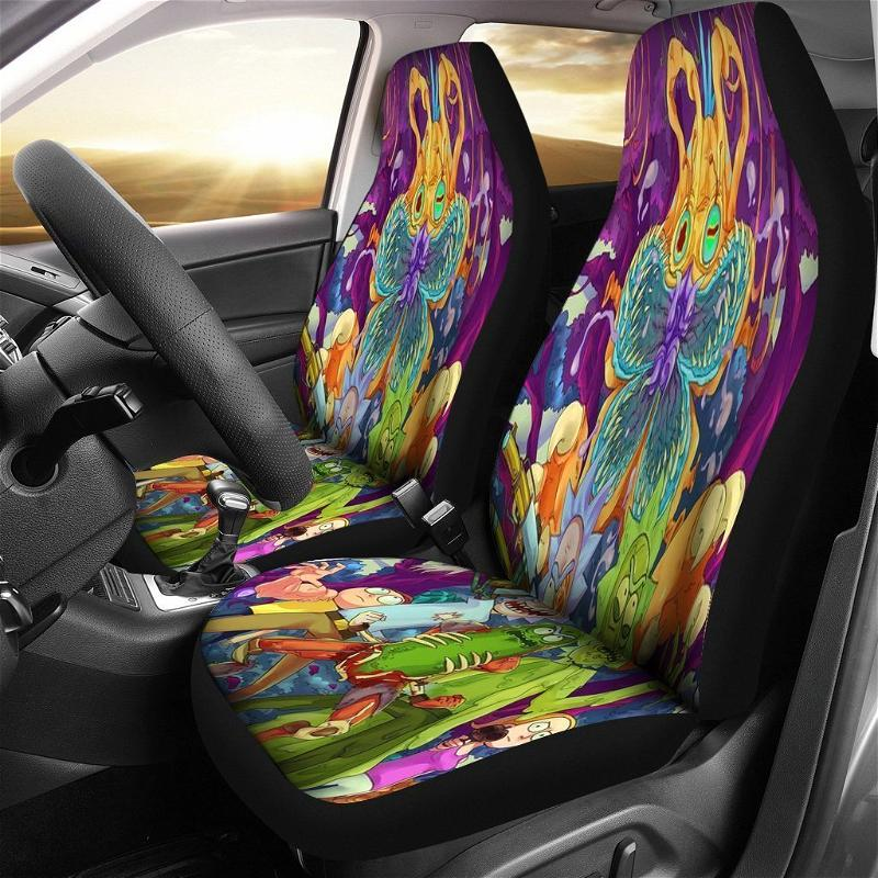 Colorful Creeepy Rabbit Car Seat Covers