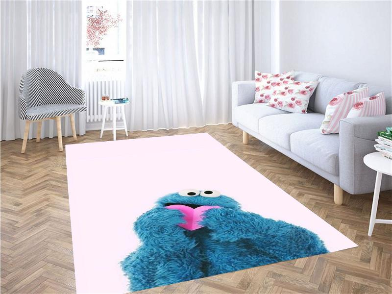 Cookie Monster With Heart Carpet Rug