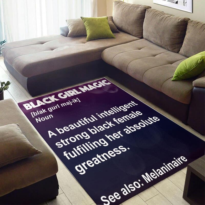 Cool African Fancy Afrocentric Black Queen Girl Magic Large Carpet Inspired Home Rug