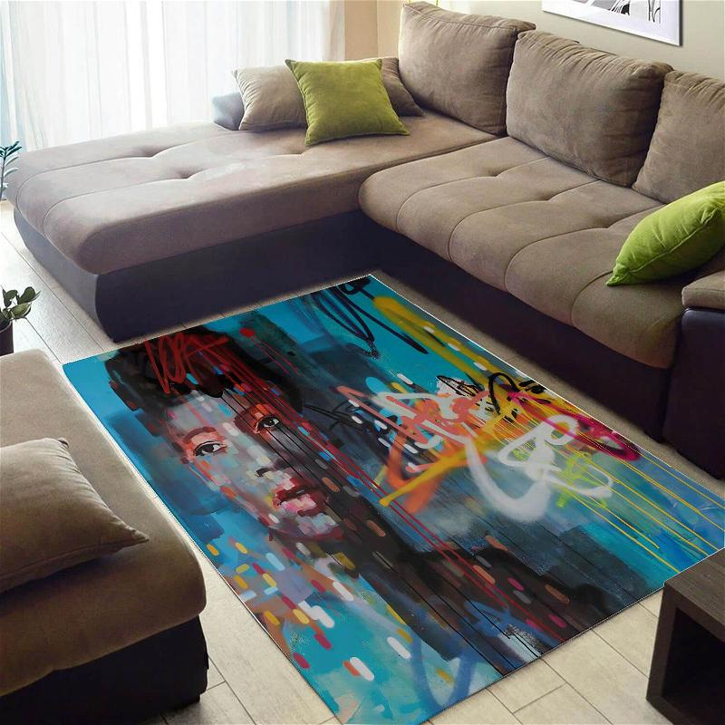 Cool African Fancy American Lady Themed House Rug