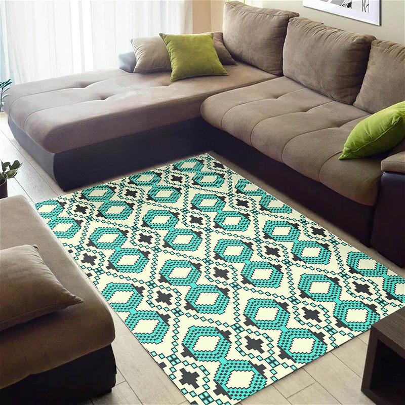 Cool African Style Unique Inspired Ethnic Seamless Pattern Carpet Living Room Rug