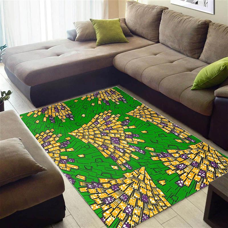 Cool African Trendy Inspired Ethnic Seamless Pattern Style Carpet Rug