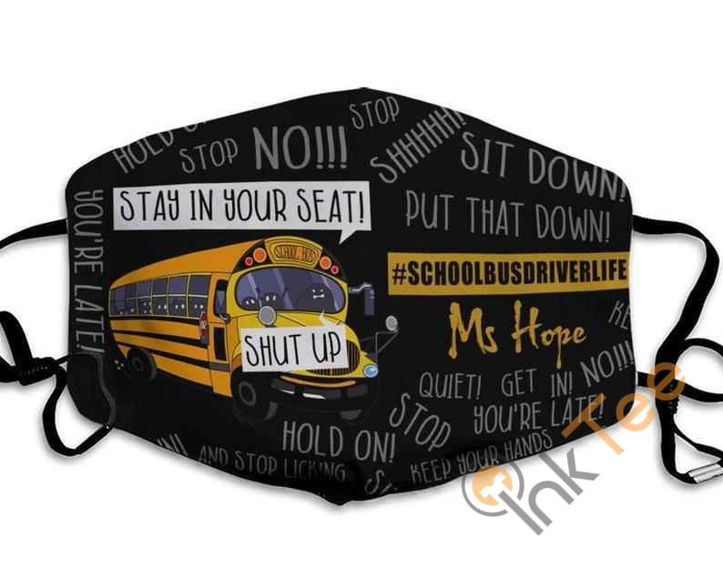 Customize Name School Bus Driver Handmade Anti Droplet Filter Cotton Face Mask