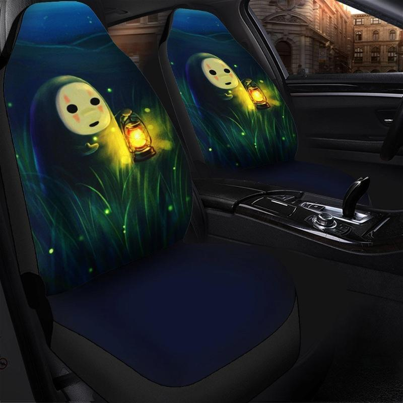 Cute No Face Anime Car Seat Covers