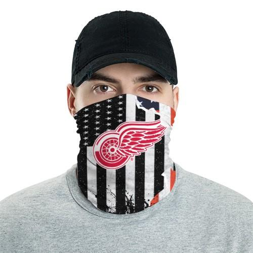 Detroit Red Wings 9 Bandana Scarf Sports Neck Gaiter No2020 Face Mask